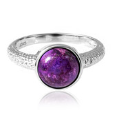 Kingman Purple Mojave Turquoise Silver Ring