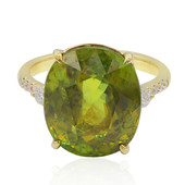 14K Sphene Gold Ring