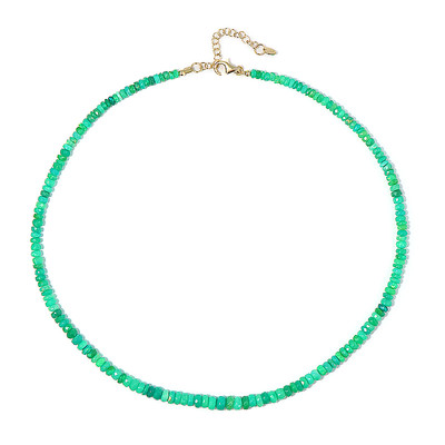 Green Opal Silver Necklace