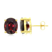 18K Spessartite Gold Earrings