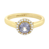 18K Blue Burmese Spinel Gold Ring