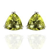 Ouro Verde Quartz Silver Earrings