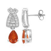 Jalisco Imperial Fire Opal Silver Earrings