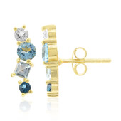 Swiss Blue Topaz Silver Earrings