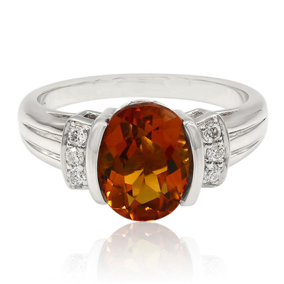 9K Mandarin Citrine Gold Ring