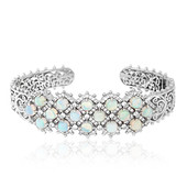 Welo Opal Silver Bangle (Dallas Prince Designs)