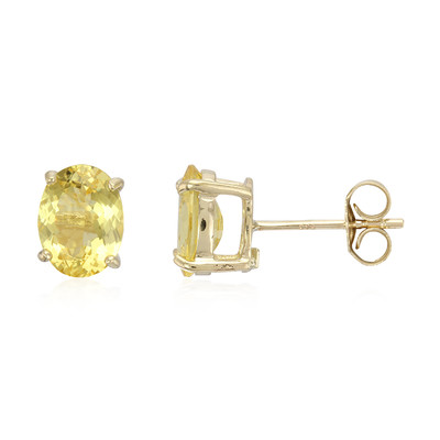 9K Neon Danburite Gold Earrings