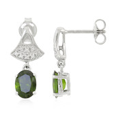 Russian Diopside Silver Earrings (Cavill)
