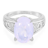 Lavender Quartz Silver Ring