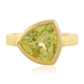 Lemon Quartz Silver Ring (MONOSONO COLLECTION)