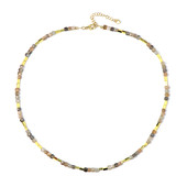 Golden Hematite Silver Necklace