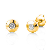 18K SI Diamond Gold Earrings