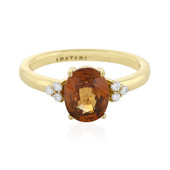 18K Orange Zircon Gold Ring