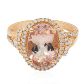 14K AAA Morganite Gold Ring