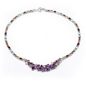 Zambian Amethyst Silver Necklace