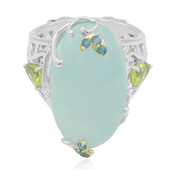 Aqua Chalcedony Silver Ring (Dallas Prince Designs)