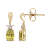 9K Sphene Gold Earrings