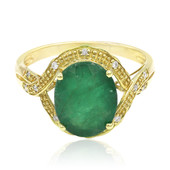 14K Zambian Emerald Gold Ring
