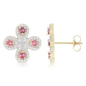 10K Unheated Padparadscha Sapphire Gold Earrings (Molloy)