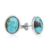 Tyrone Turquoise Silver Earrings