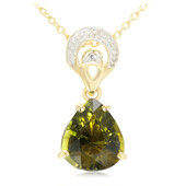 18K Cuprian Tourmaline Gold Necklace