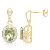 9K Afghan Olive Tourmaline Gold Earrings