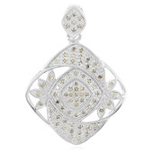 Chocolate Diamond Silver Pendant (Cavill)