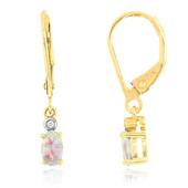 9K Welo Opal Gold Earrings