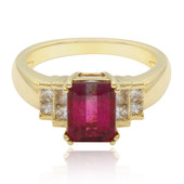 14K Pink Tourmaline Gold Ring