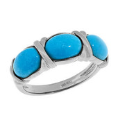 Mine 8 Turquoise Silver Ring