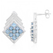 Santa Maria Aquamarine Silver Earrings (Cavill)