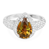 Jungle Topaz Silver Ring