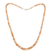 Sunstone Silver Necklace