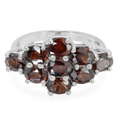 Cinnamon Zircon Silver Ring