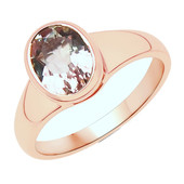 14K AAA Brazilian Morganite Gold Ring