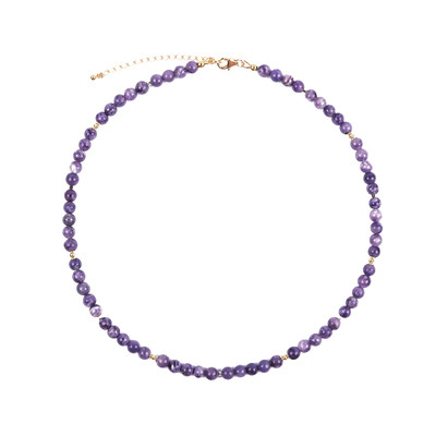 Charoite Silver Necklace