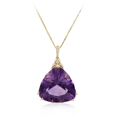 14K Amethyst Gold Necklace