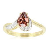 9K Pink Zircon Gold Ring