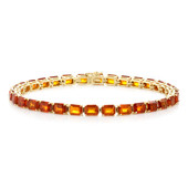 9K Tanzanian Orange Kyanite Gold Bracelet