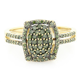 14K Green Diamond Gold Ring