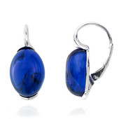 Colombian blue Amber Silver Earrings