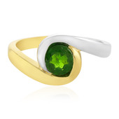 Russian Diopside Silver Ring (MONOSONO COLLECTION)