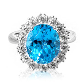 Swiss Blue Topaz Silver Ring (Memories by Vincent)