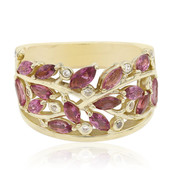 9K Pink Tourmaline Gold Ring