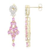 10K Ceylon Pink Sapphire Gold Earrings