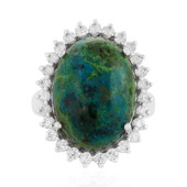 Chrysokolla Silver Ring