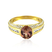 14K Orange Zircon Gold Ring (de Melo)