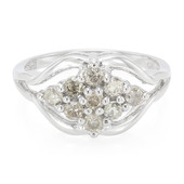 Chocolate Diamond Silver Ring (Cavill)