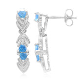 Neon Blue Apatite Silver Earrings (Cavill)