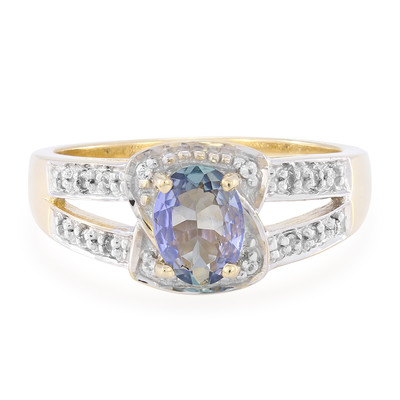 9K Chameleon Tanzanite Gold Ring